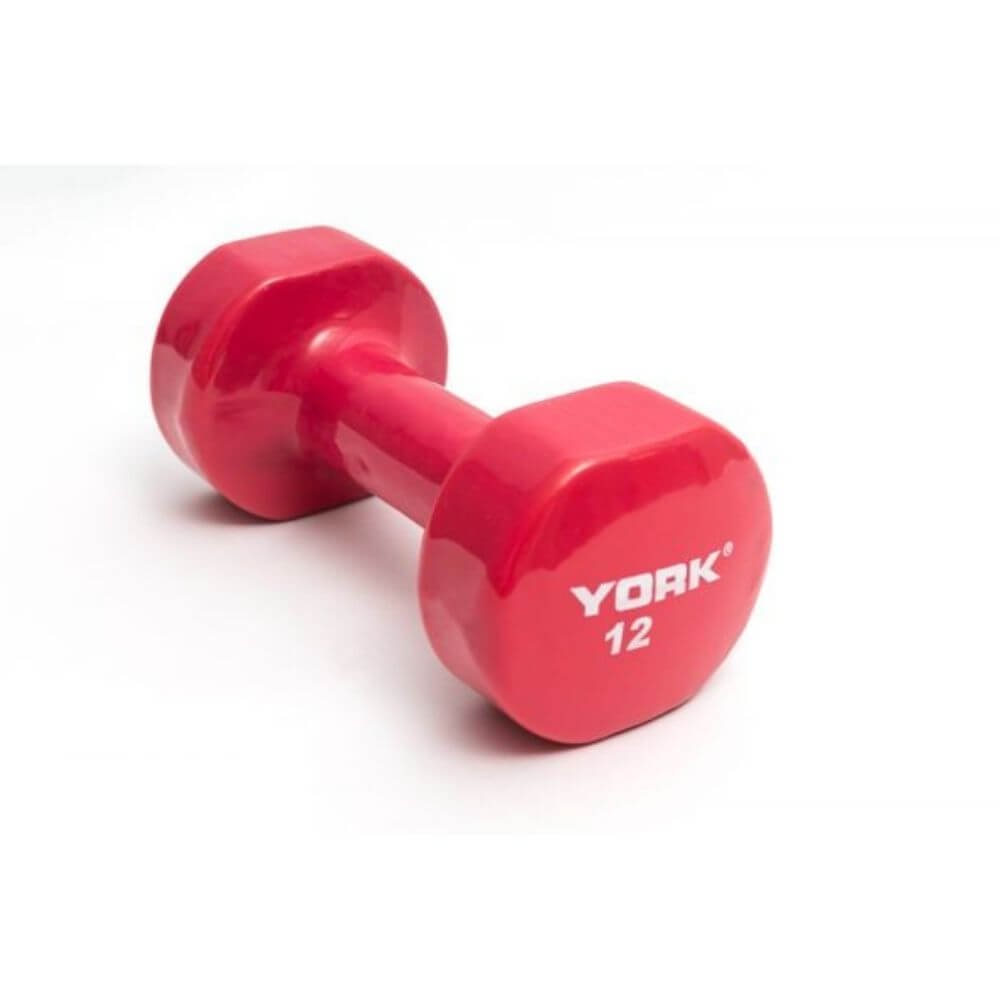 York Barbell 15000 Multi-Color Vinyl Fitbells Magenta