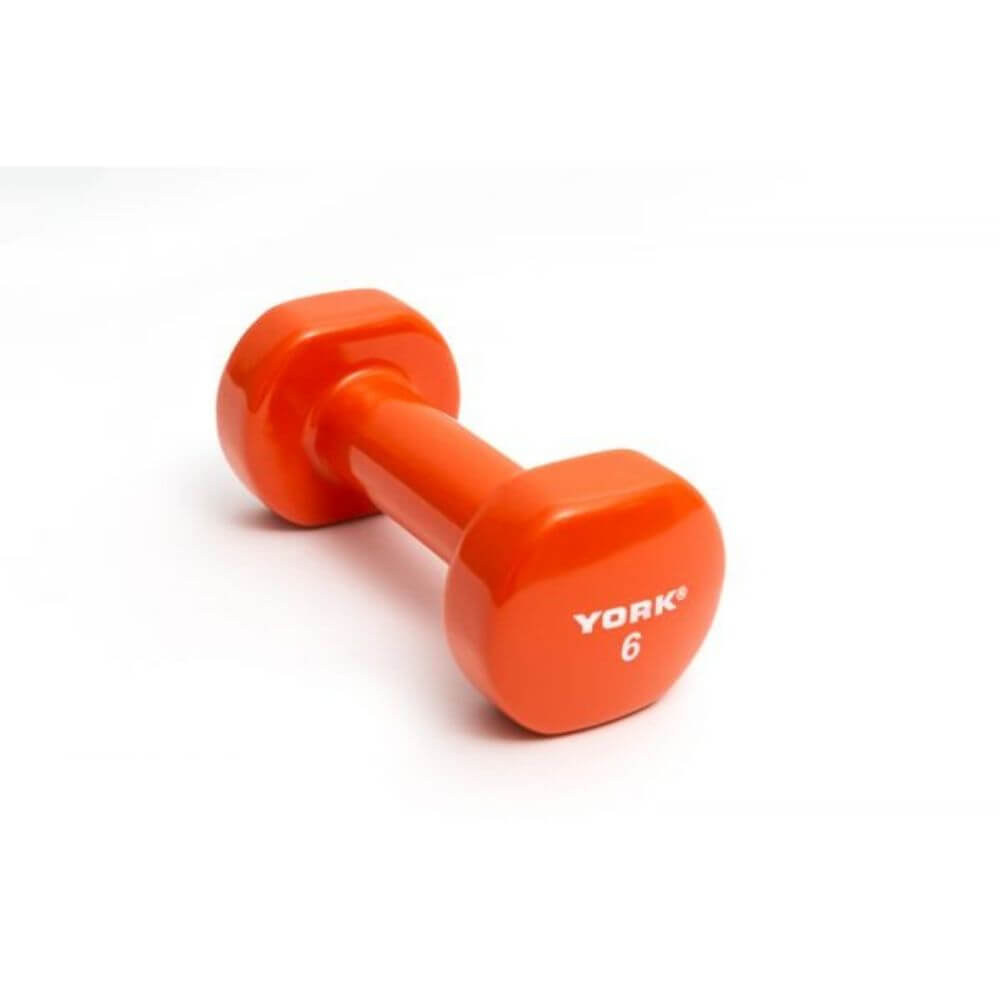 York Barbell 15000 Multi-Color Vinyl Fitbells Orange