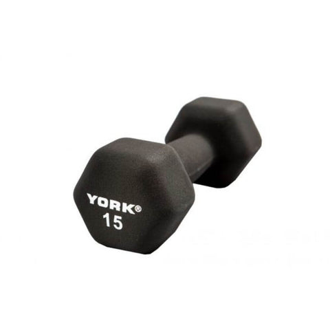 York Barbell 15601 Black Neoprene Hexagon Fitbells 15