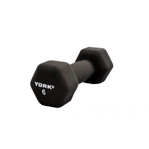 York Barbell 15601 Black Neoprene Hexagon Fitbells 6