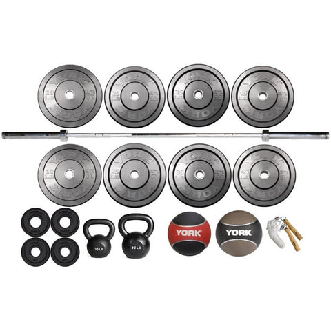 York Barbell 27000 Starter Garage Gym Package