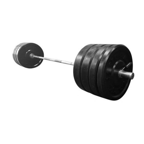 York Barbell 28054 USA Black Bumper Plate & Barbell Sets (KG)