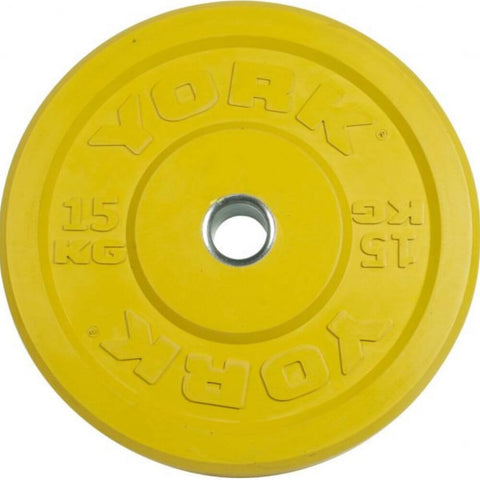 Image of York Barbell 28091 USA Colored Rubber Bumper Plates (KG) 15
