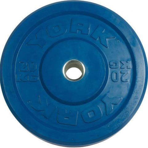 York Barbell 28091 USA Colored Rubber Bumper Plates (KG) 20