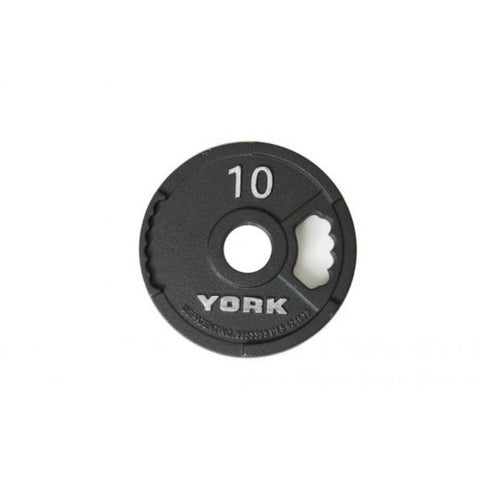 York Barbell 29000 G-2 Cast Iron Olympic Plates 10