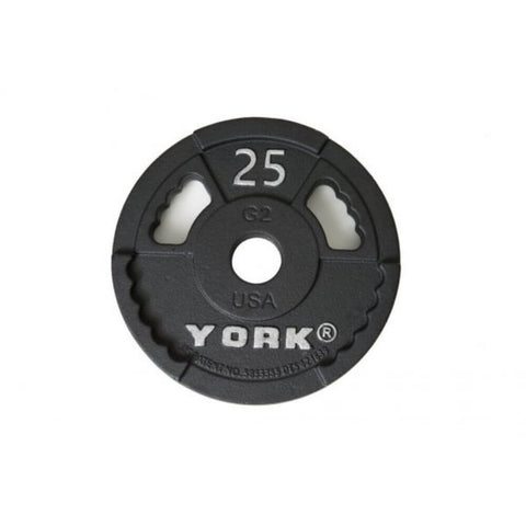 York Barbell 29000 G-2 Cast Iron Olympic Plates 25
