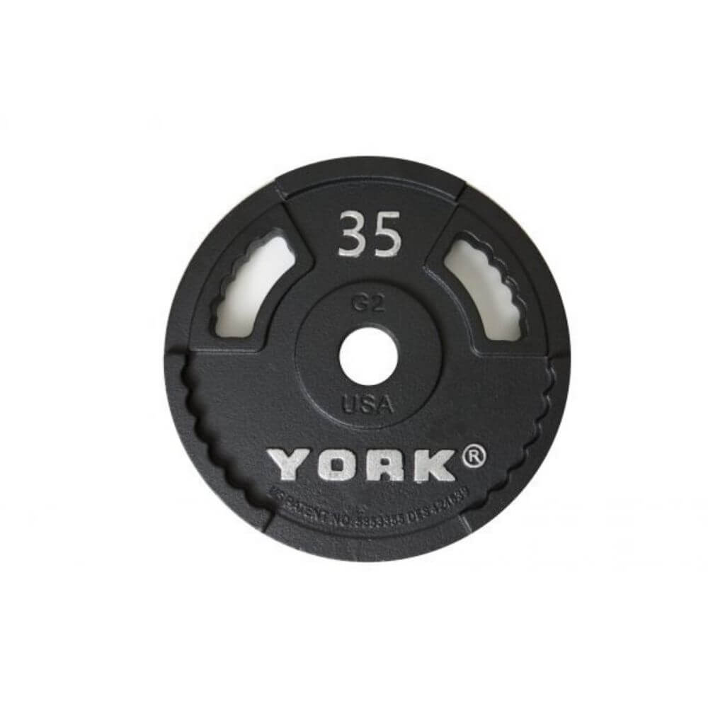 York Barbell 29000 G-2 Cast Iron Olympic Plates 35