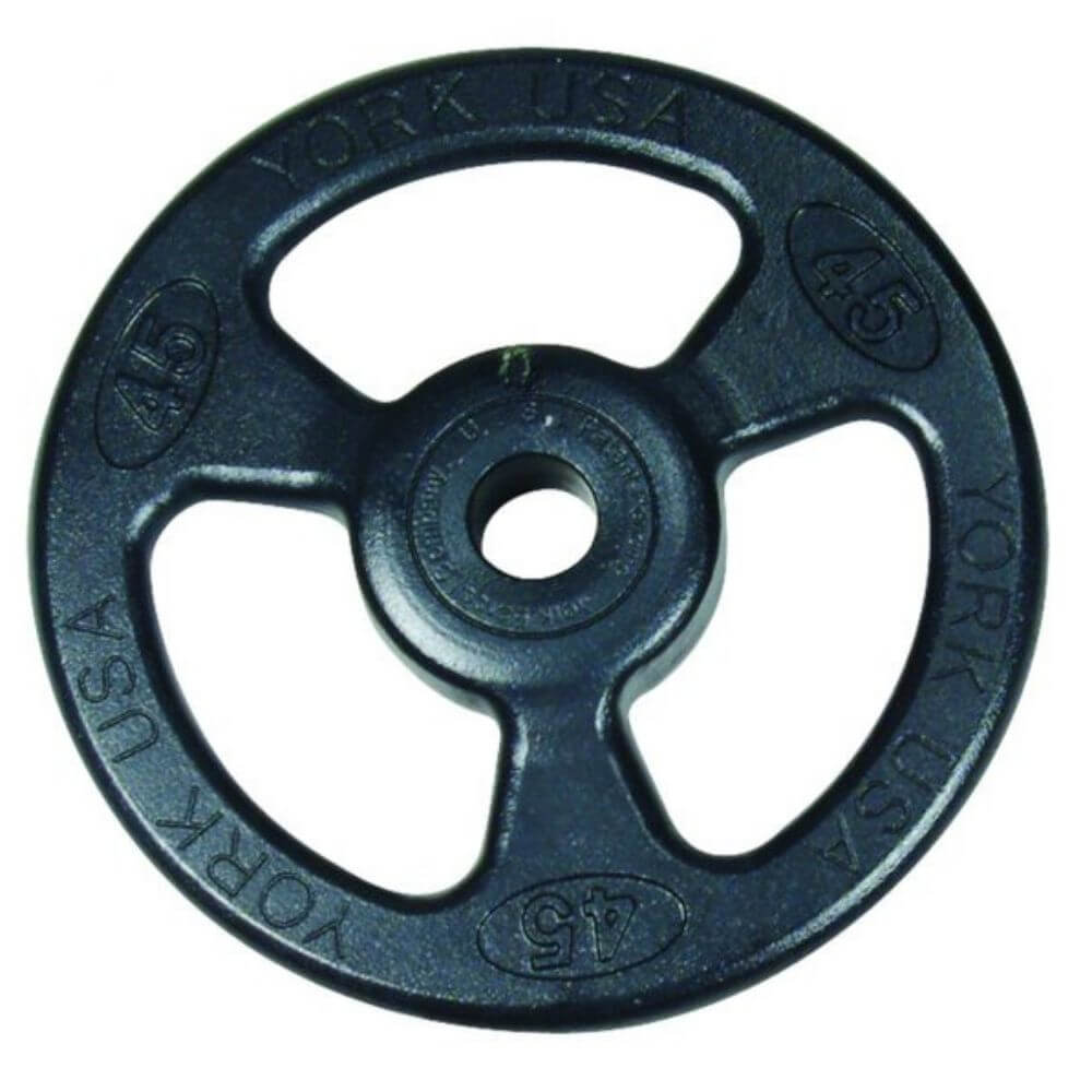 York Barbell 29010 Iso-Grip Steel Olympic Plate