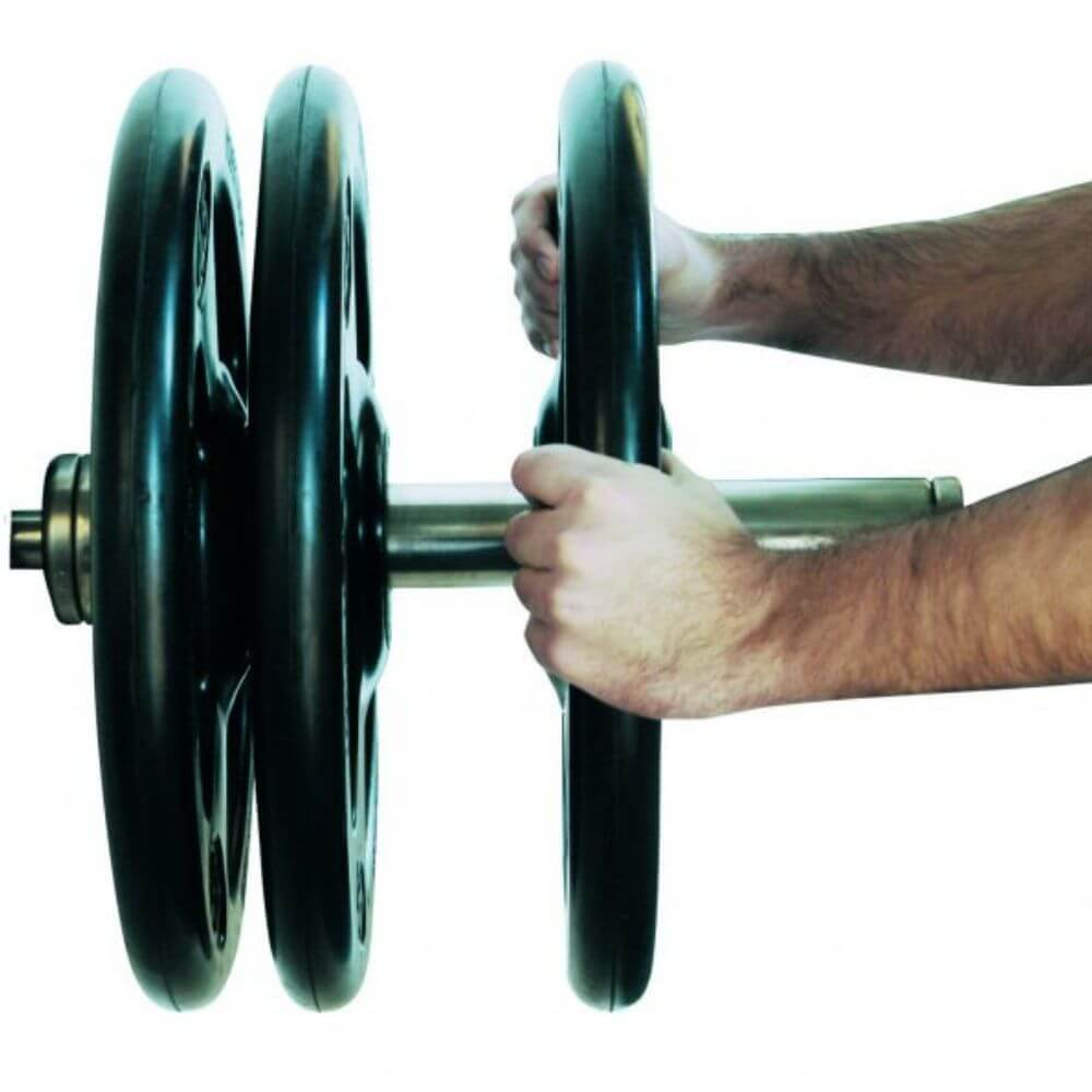 York Barbell 29010 Iso-Grip Steel Olympic Plate 2 Hand Grip