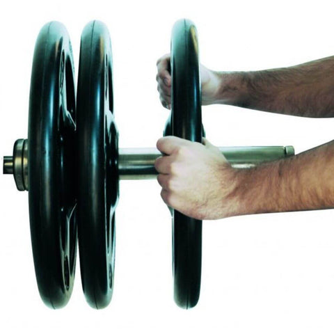 Image of York Barbell 29010 Iso-Grip Steel Olympic Plate 2 Hand Grip