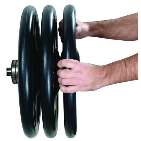 Image of York Barbell 29010 Iso-Grip Steel Olympic Plate 3D View