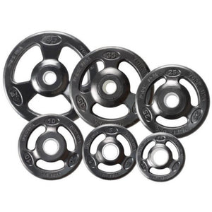 York Barbell 29020 Iso-Grip Rubber Encased Steel Olympic Plates