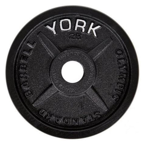 York Barbell 29030 Legacy Cast Iron Precision Milled Olympic Plates 25