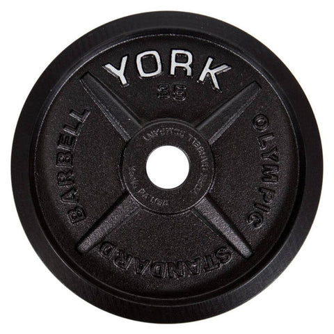 York Barbell 29030 Legacy Cast Iron Precision Milled Olympic Plates 35