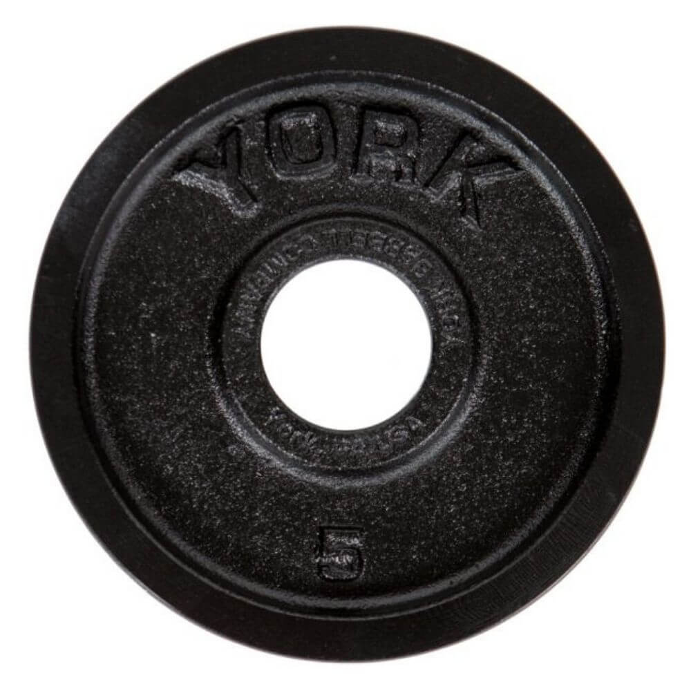 York Barbell 29030 Legacy Cast Iron Precision Milled Olympic Plates 5