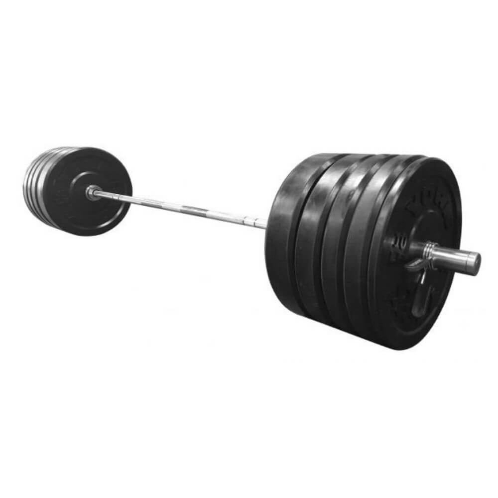 York Barbell 29046 USA Black Bumper Plate & Barbell Sets