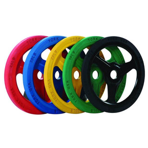 York Barbell 29055 Colored Bumper Grip Plates
