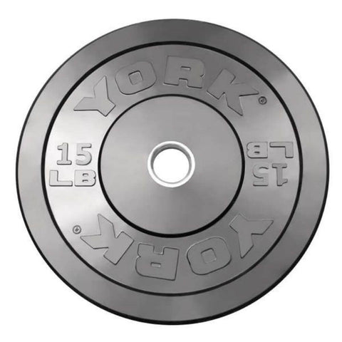 Image of York Barbell 29067 USA Rubber Bumper Plates 15