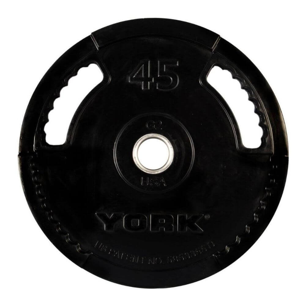 York_Barbell_29078G-2_Rubber_Encased_Olympic_Plates_45