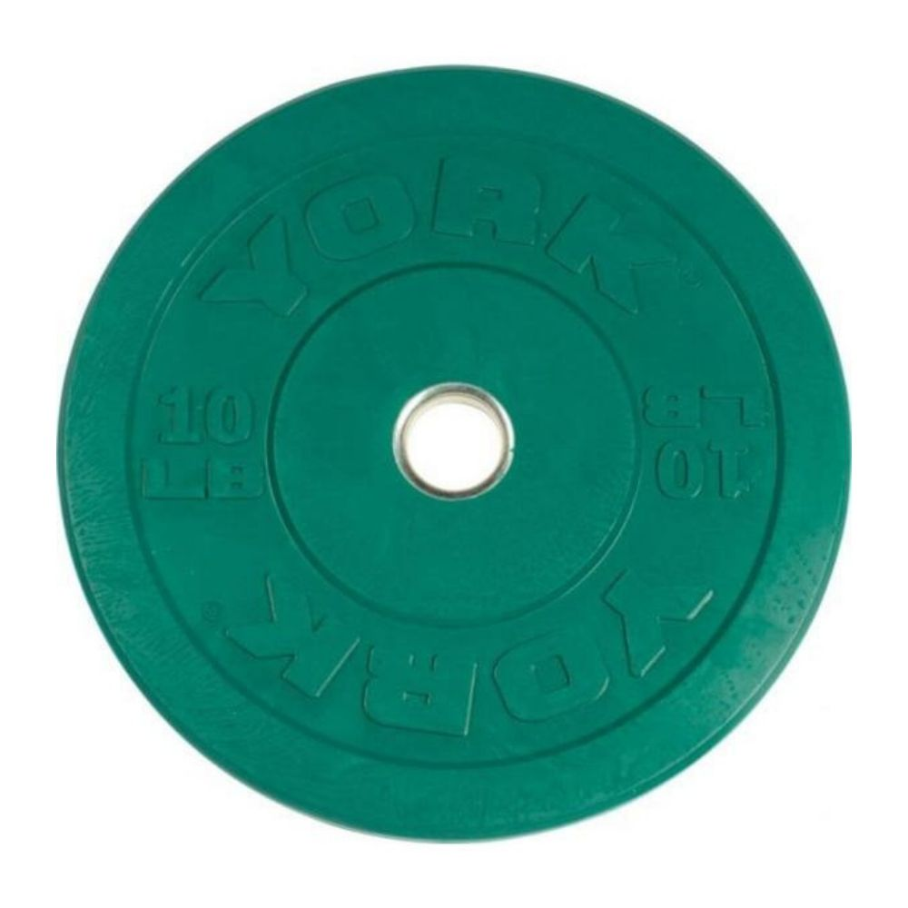 York Barbell 29085 USA Colored Rubber Bumper Plates 10lbs