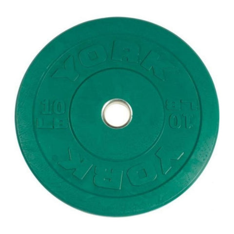 Image of York Barbell 29085 USA Colored Rubber Bumper Plates 10lbs