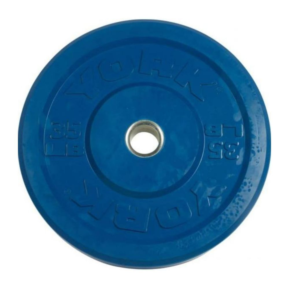 York Barbell 29087 USA Colored Rubber Bumper Plates 35lbs