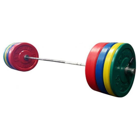 York Barbell 29091 USA Colored Bumper Plate & Barbell Sets