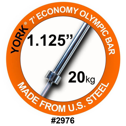 York Barbell 2976 7' Olympic Bar
