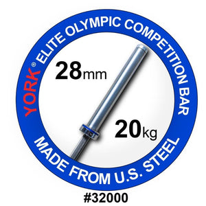 York Barbell 32000 Men's Elite Competition 20kg Olympic Bar
