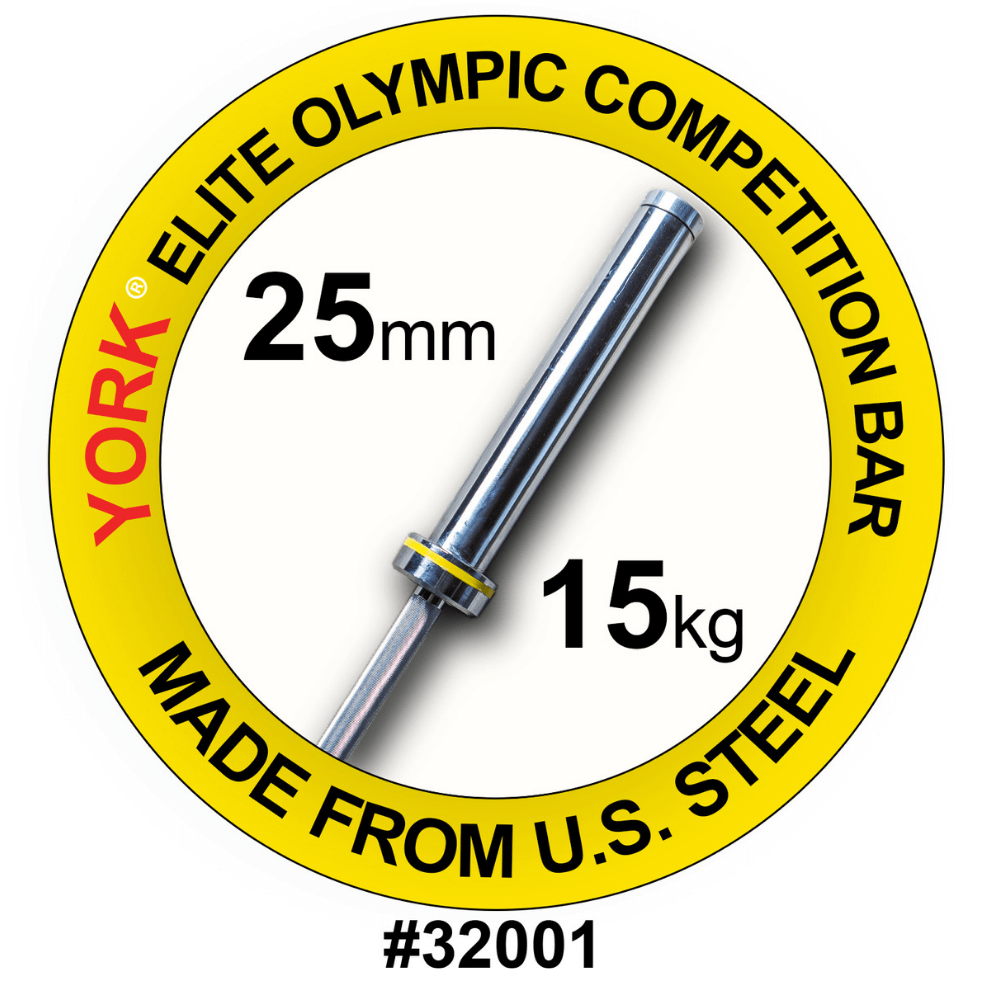 York Barbell 32001 Women's Elite Competition 15kg Olympic Bar