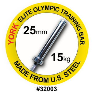 York Barbell 32003 Women's Elite Competition 15kg Olympic Training Bar