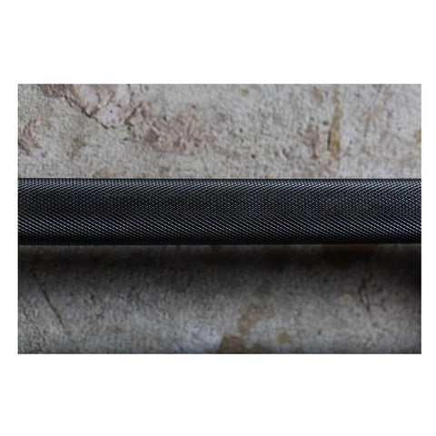 York Barbell 32123 5' International Black Oxide Olympic Bar Grip View