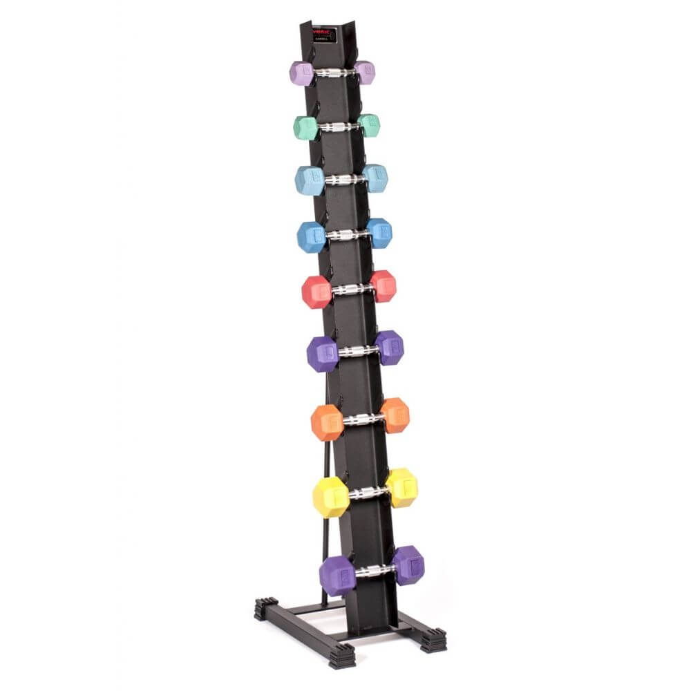York Barbell 15400 Rubber Hex Dumbbell Storage Rack
