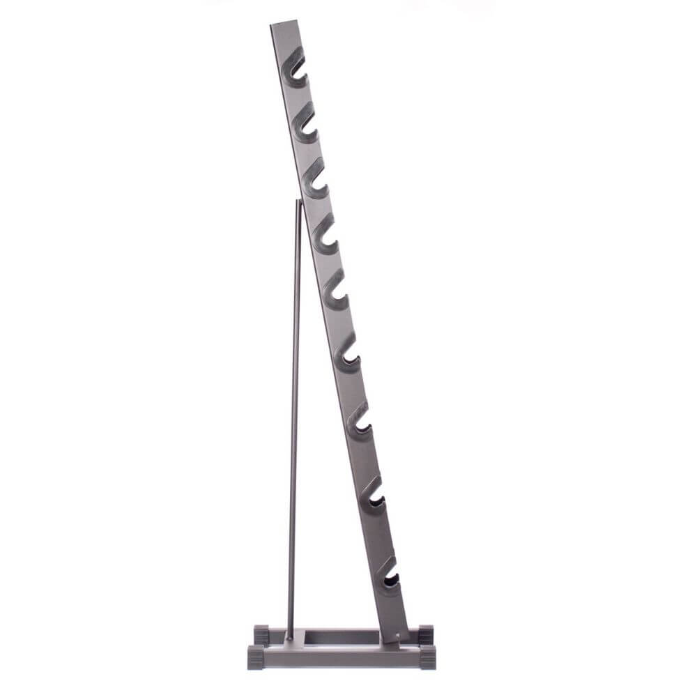 York Barbell 15400 Rubber Hex Dumbbell Storage Rack Side View