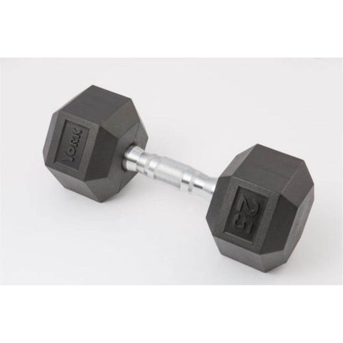 York Barbell 34050 Rubber Hex Dumbbell 3D View