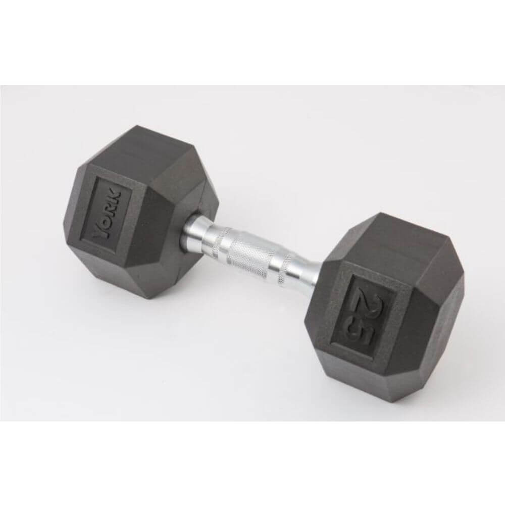 York Barbell 34090 Rubber Hex Dumbbell Set 3D View