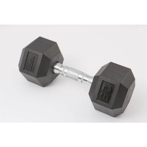 Image of York Barbell 34090 Rubber Hex Dumbbell Set 3D View