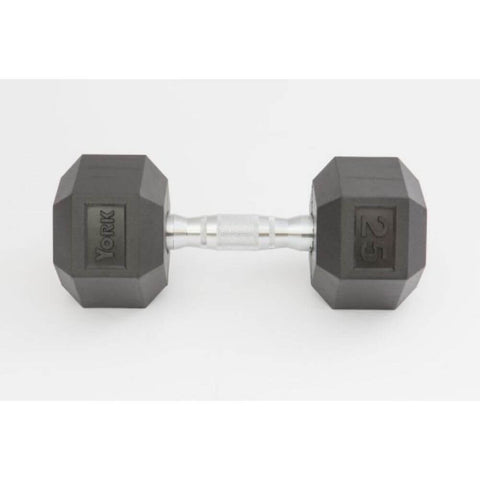 Image of York Barbell 34090 Rubber Hex Dumbbell Set Front View