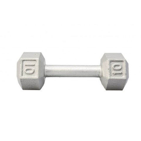 Image of York Barbell 3461 Cast Iron Hex Dumbbells 10lb