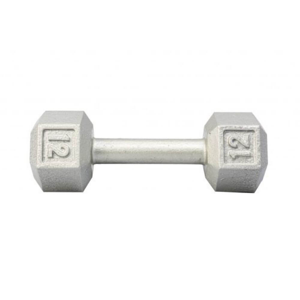 York Barbell 3461 Cast Iron Hex Dumbbells 12lb