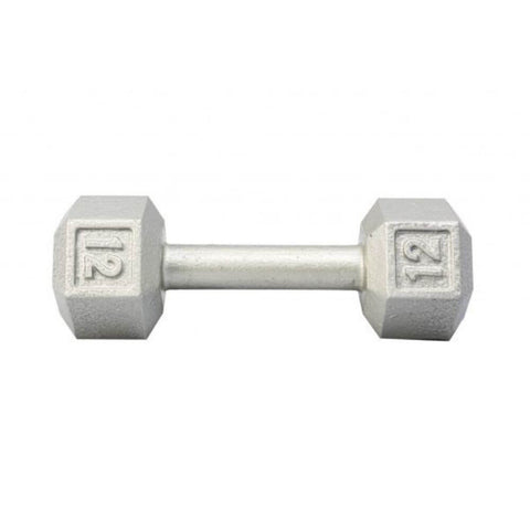 Image of York Barbell 3461 Cast Iron Hex Dumbbells 12lb