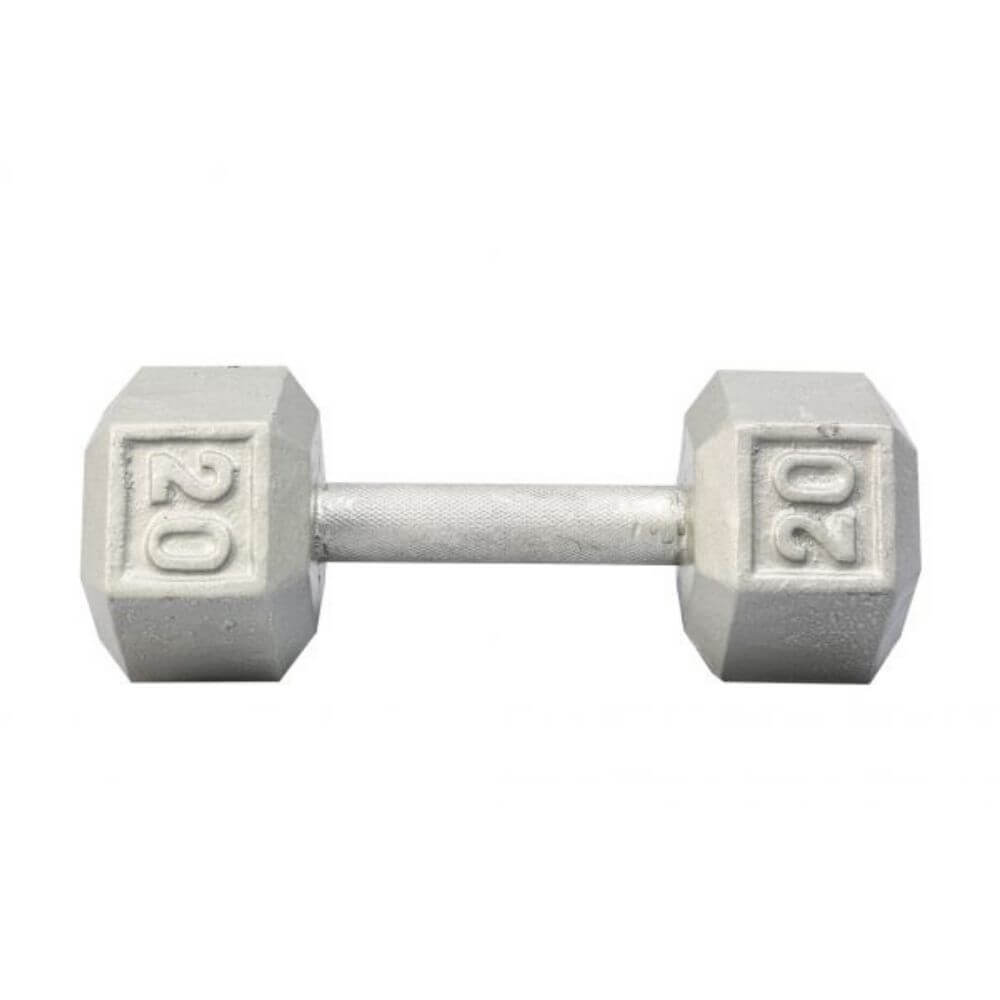 York Barbell 3461 Cast Iron Hex Dumbbells 20lb