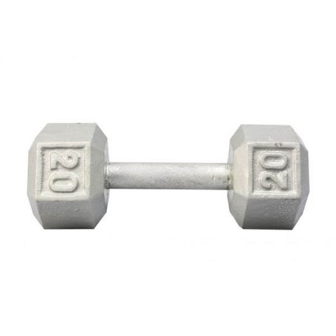 Image of York Barbell 3461 Cast Iron Hex Dumbbells 20lb