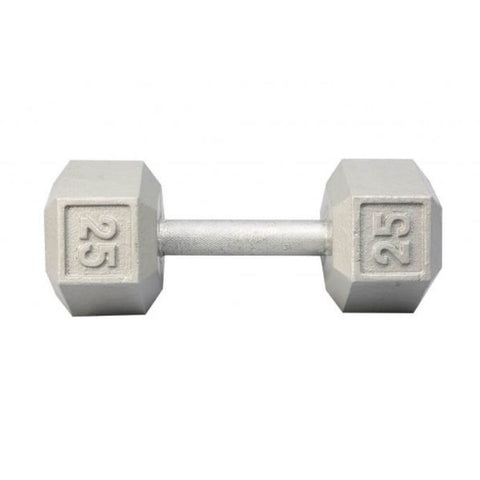 Image of York Barbell 3461 Cast Iron Hex Dumbbells 25lb