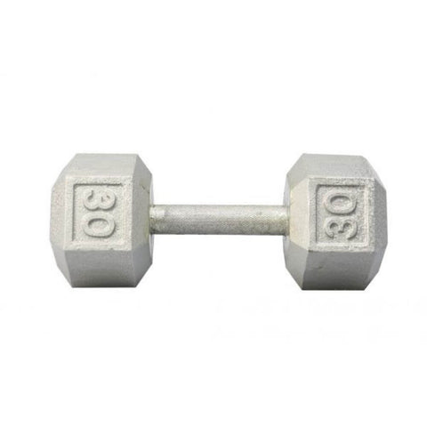 Image of York Barbell 3461 Cast Iron Hex Dumbbells 30lb