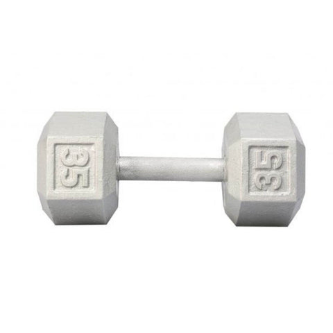 Image of York Barbell 3461 Cast Iron Hex Dumbbells 35lb