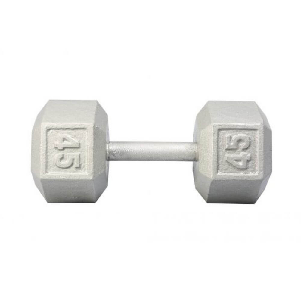 York Barbell 3461 Cast Iron Hex Dumbbells 45lb