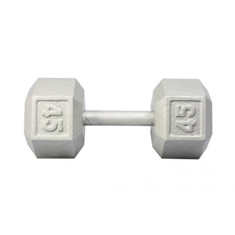 Image of York Barbell 3461 Cast Iron Hex Dumbbells 45lb