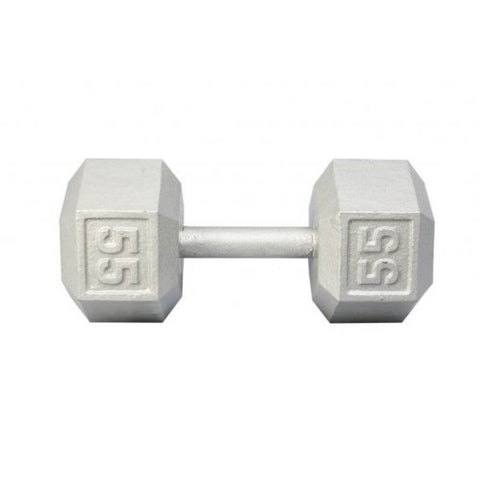 Image of York Barbell 3461 Cast Iron Hex Dumbbells 55lb