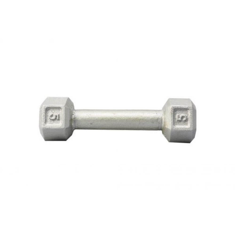 York Barbell 3461 Cast Iron Hex Dumbbells 5lb